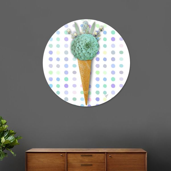 Discover «SUCCULENT CACTUS ICE CREAM», Limited Edition Disk Print by Gloria  Sánchez - From 95€ - Curioos