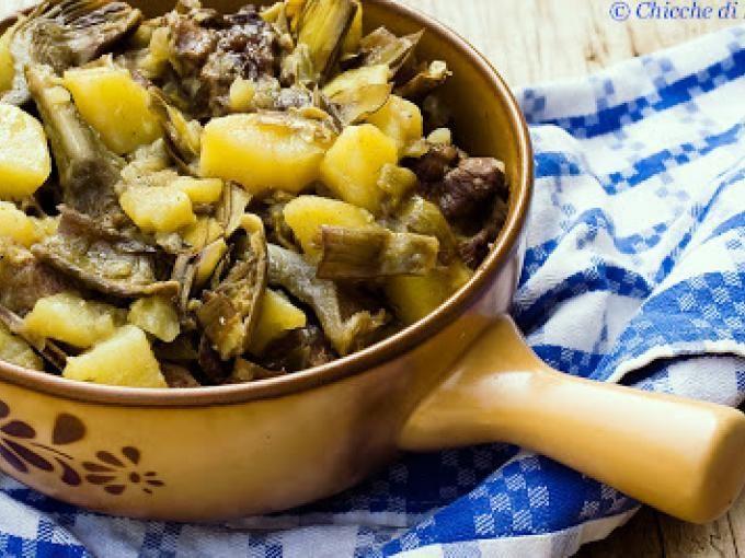 Una ricetta speciale per preparare la carne di agnello - Ricetta Portata principale : Agnello in umido con carciofi e patate da Cpicox
