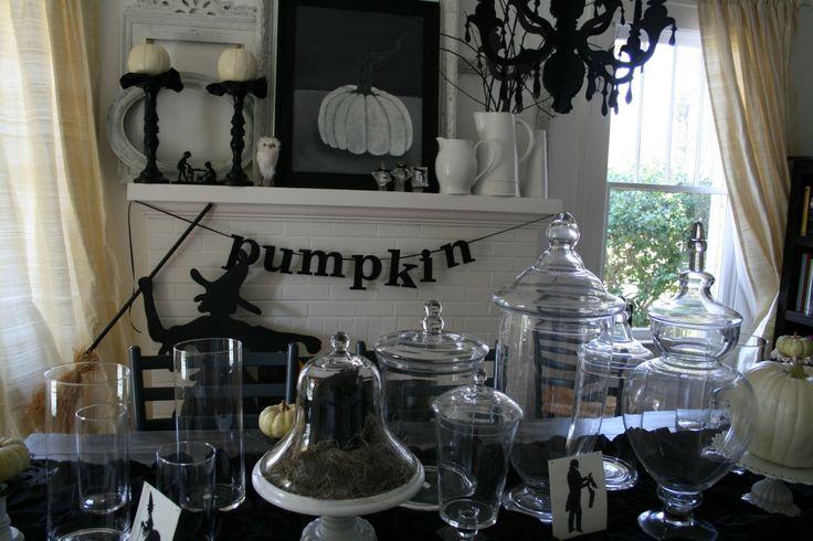 40 best Halloween parties images on Pinterest Halloween stuff - halloween decorating ideas indoor