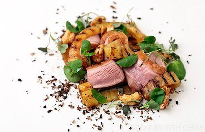 Duck with Pineapple Recipe - Great British Chefs