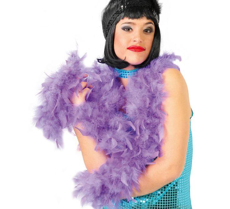 #Boa de #plumas Lila de 40 gramos de 180 cm. Ideal para tu disfraz de #Charlestón o #Cabaret.  #Orgullo #OrgulloGay #OrgulloLGTB #OrgulloMadrid