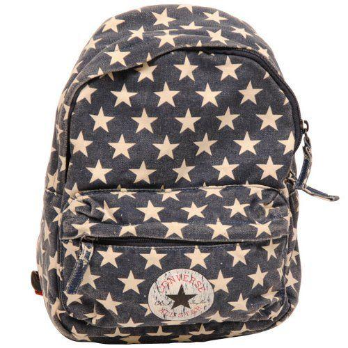 Converse Stars Print Backpack Kids Rucksack 30 cm, dark marine