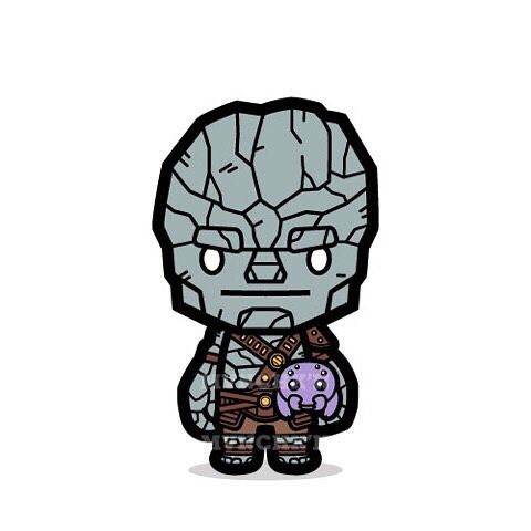 Give way, Groot! We have a new fan-favorite right here! #korg #miek #thor #thorragnarok #marvel #cu - mvnchk