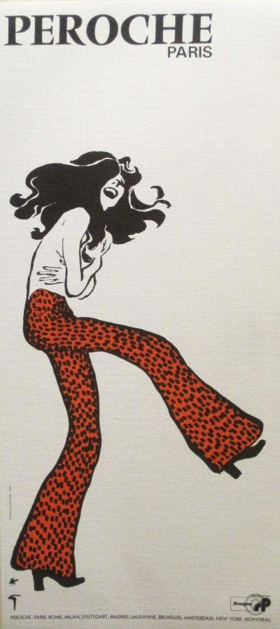 """PG322 """"Peroche Paris"""" Poster by René Gruau (1970)"""
