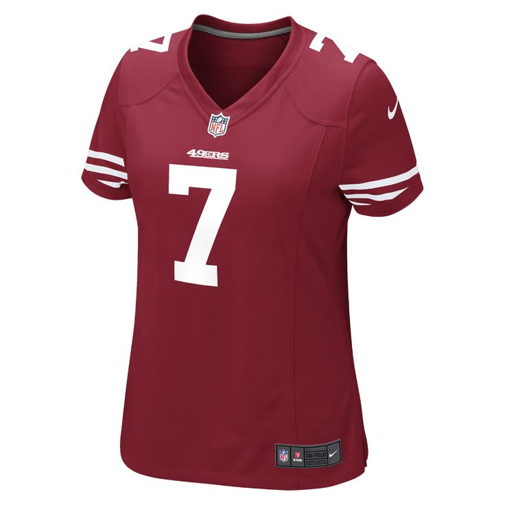 43c62f6a612 ... switzerland nike nfl san francisco 49ers colin kaepernick womens  football home game jersey size medium 76