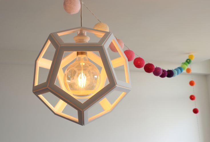 Diy Paper Pendant Lampshade Cardboard Polyhedron Light In 2019
