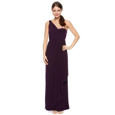 Debut Nina asymmetric draped one shoulder jersey maxi dress- at Debenhams.com