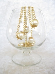 I love a BIG pearl! 12 mm pearls on gold-tone chain make a statement! $30