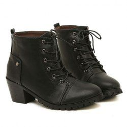 $16.07 Pretty Women's Short Boots With Round Toe and Rivets Design