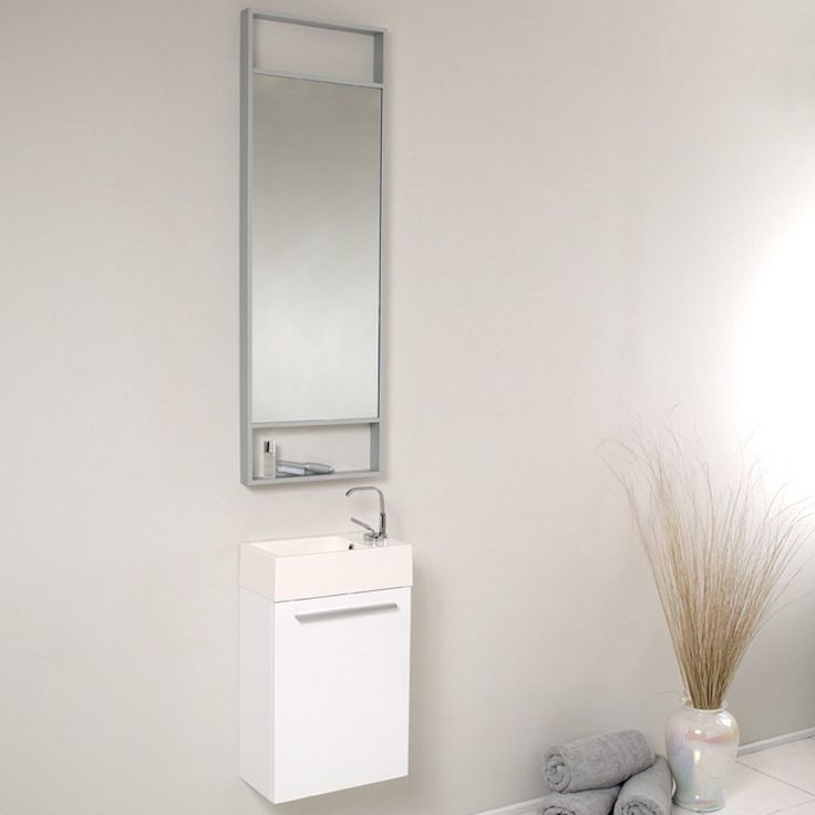 Fresca Pulito Small Modern Bathroom Vanity with Tall Mirror - FVN8002WH