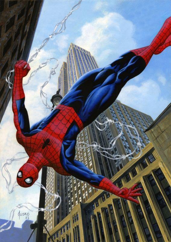 dress shopping online SPIDER MAN Comic Art by Joe Jusko