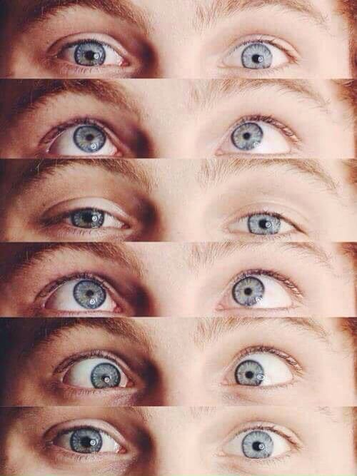 Oh my gosh! Guys look at Luke's eyes!<3