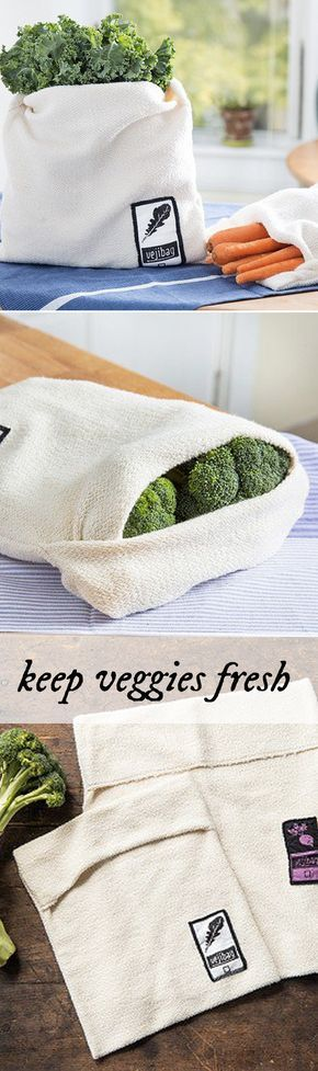 This ingenious vegetable bag keeps produce crisp and fresh longer.                                                                                                                                                      More