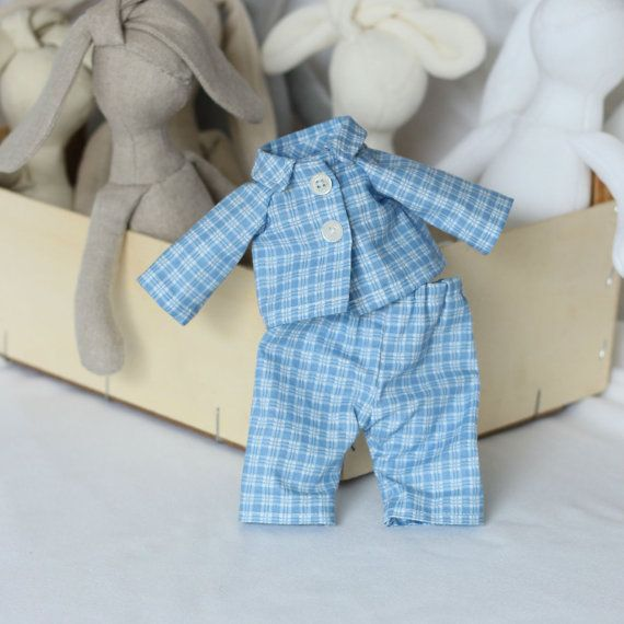 Doll Pajamas 12 inch Doll Pajama set for my 12 by RibizliDesign, $12.00