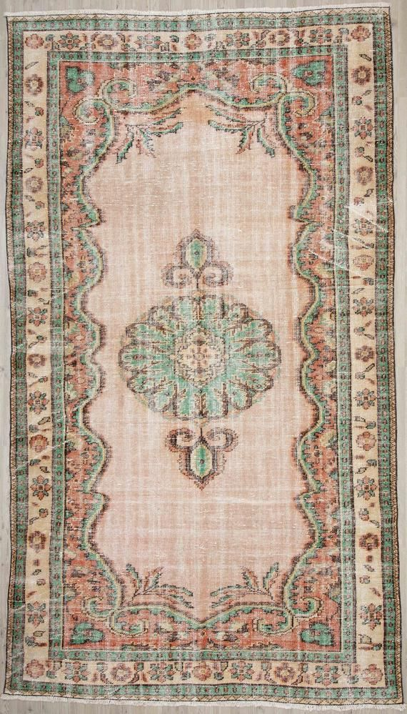 Large Floor Rug 5 80 X 10 20 Handknotted Wool Rug Oushak Turkey Rug Office Decor Rug Area Rugs Distress Large Rug Green Turkish Rug In 2020 Silk Rug Rugs Large Floor Rugs