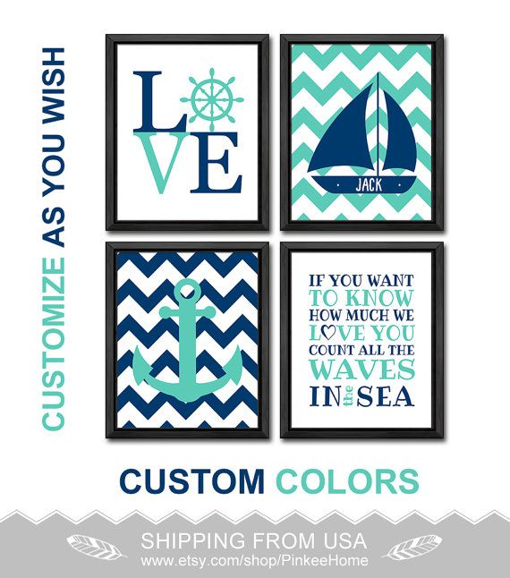 161 best nautical nursery nautical kids art images on pinterest count all the waves nautical nursery decor nautical love personalized nautical toddler art gift for boys negle Images