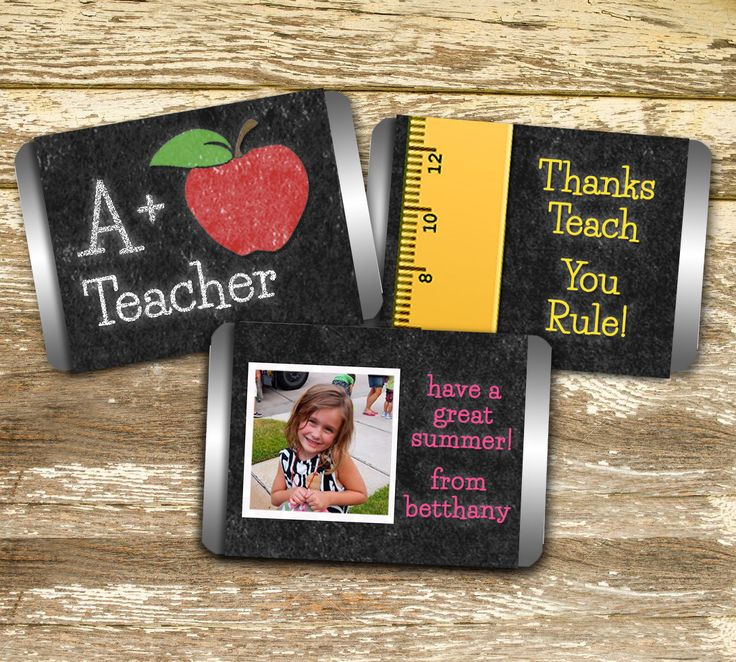 A personal favorite from my Etsy shop https://www.etsy.com/ca/listing/293452049/mini-candy-bar-wrapper-teacher