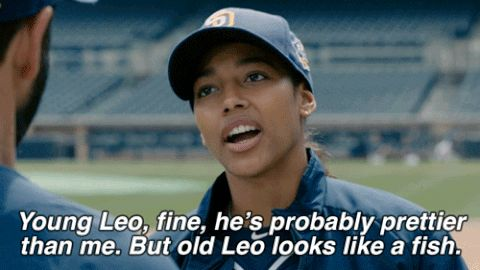 tv fox pitch kylie bunbury pitchonfox pitch on fox ginny baker fox broadcasting young leo fine hes probably prettier than me old leo looks like a fish #humor #hilarious #funny #lol #rofl #lmao #memes #cute