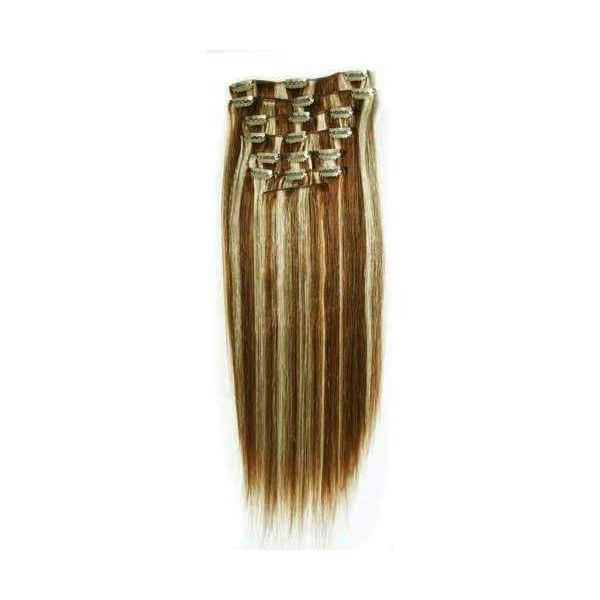 Clip in Hair Extensions, Human Hair Clip on Hair Extensions ($83) ❤ liked on Polyvore featuring beauty products, haircare, hair styling tools, hair and accessories