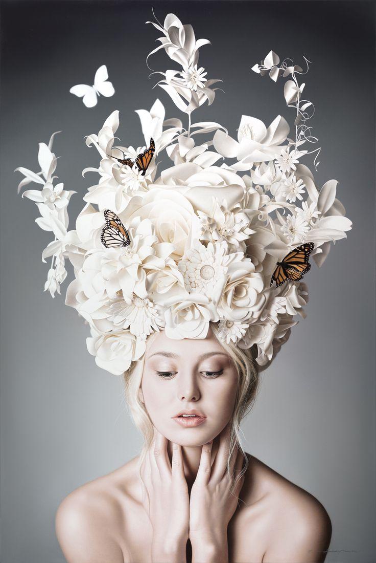 Paper flower headdress