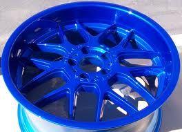 Blue Powder Coated Rims