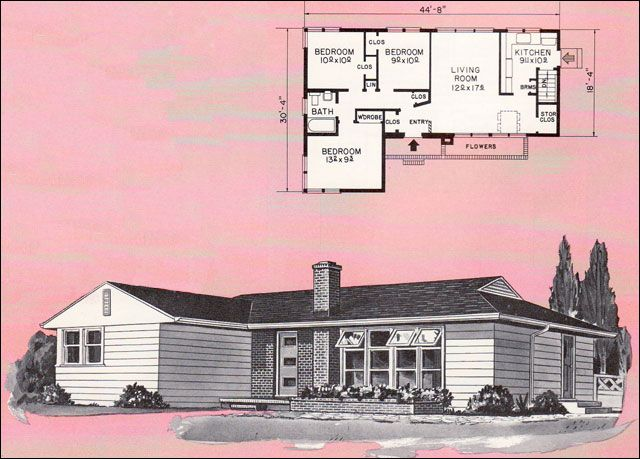 Atomic Ranch Elevation House Plan : Images about floor plans and elevations on pinterest
