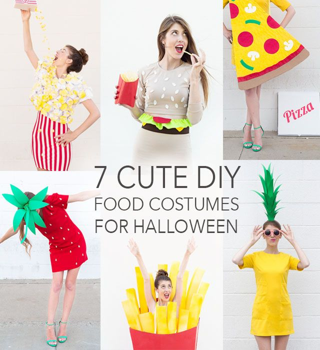 7 CUTE Food Costumes TO-DIY For Halloween by Studio DIY