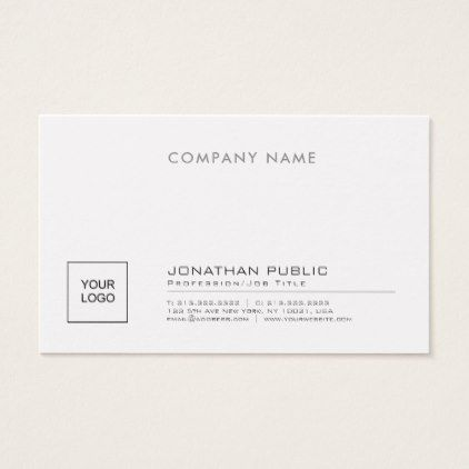 Create Your Own Stylish Company Plain With Logo Business Card - hair salon gifts customize personalize ideas diy