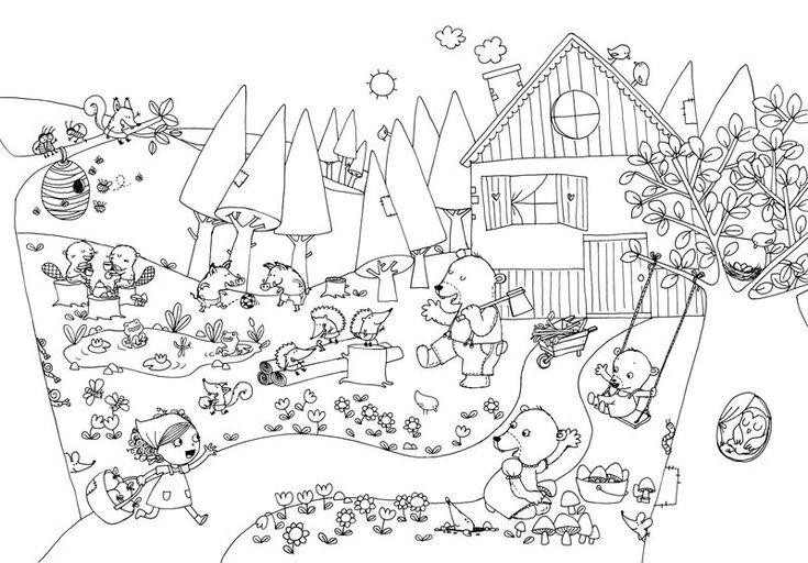 1000 images about boucle d 39 or et les 3 ours les 3 - Coloriages petite section ...