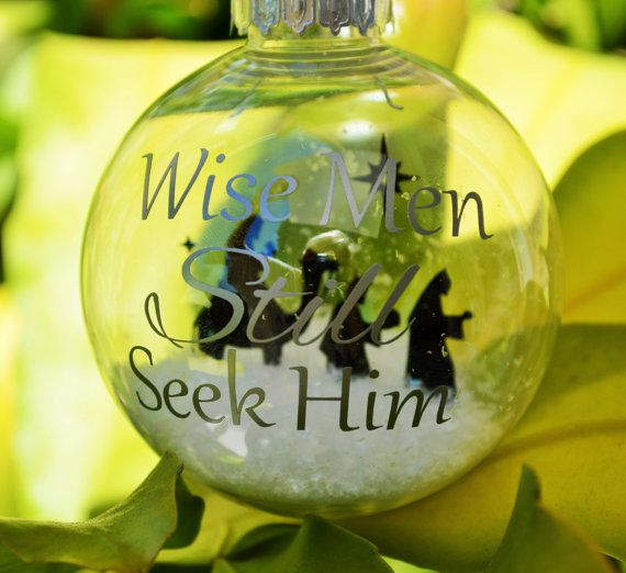 The Three Wise Men Christmas Ornament floating by FromTheBobbinUp, $12.00  #craftjunkies