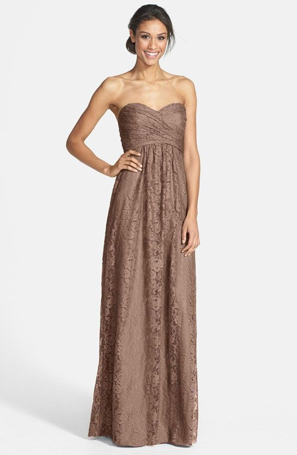 Is your wedding all about the earth tones?  Employ earthy colors for your bridesmaid dresses like this one! See all your amazing lace options here: http://www.mywedding.com/articles/lace-bridesmaid-dresses/