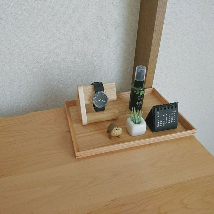 My Desk/無印良品/時計/ダイソー/カレンダー/木製...などのインテリア実例 - 2018-02-11 00:12:48