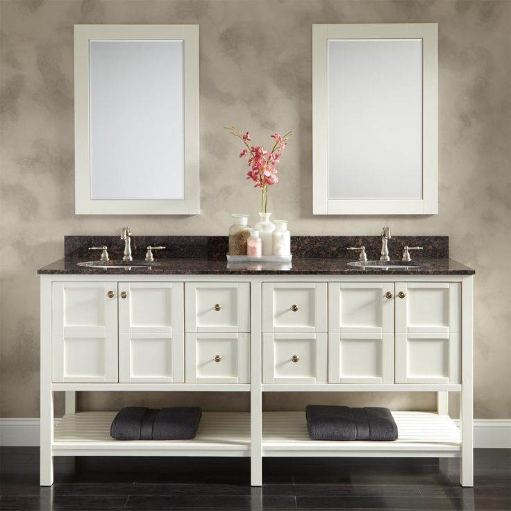 The Awesome Web Bowman Vanity for Semi Recessed Sink White Double Sink Vanities Bathroom Vanities Bathroom