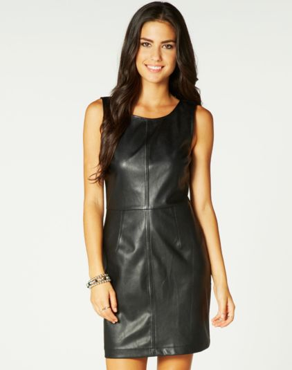 Short, Faux Leather Dress, Buy Online