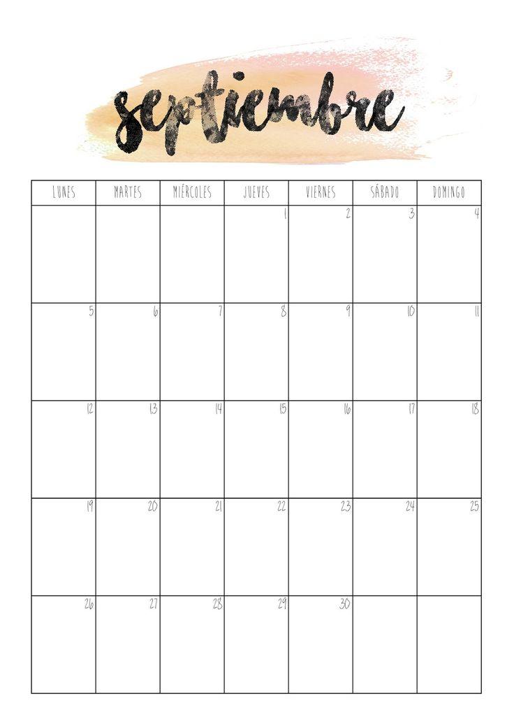 Calendario Septiembre 2016   Primer día de septiembre preparadas para el nuevo curso?  Imprime el calendario y empieza el mes organizada. Os recuerdo que ya podéis conseguir la agenda de 2016-2017 en el blog.
