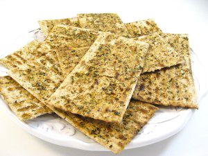 Passover Herbed Baked Matzos. http://www.skinnykitchen.com/recipes/passover-herbed-baked-matzos/