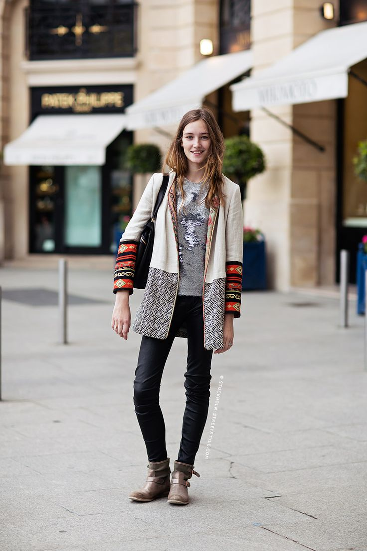 Cool ethnic detailing on this jacket!