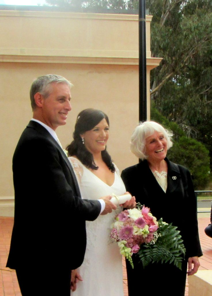 Aidan and Brooke married at the Albert Hall in Canberra in March