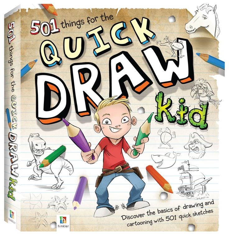 Discover how to create awesome quick-and-easy sketches, doodles and cartoons in no time at all! Guide for the Quick Draw Kid features a comprehensive introduction teaching you the basics of drawing and 501 cool drawings for you to master.