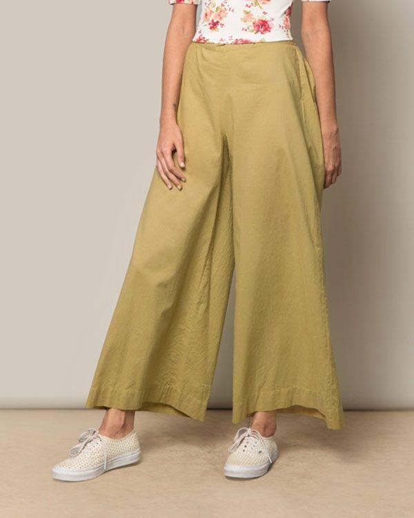 NICOBAR Cotton Trouser - Leaf Green
