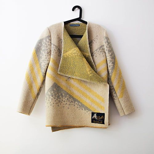 Wintervachtjas | WINTERVACHTJAS | gemaakt van oude dekens | #upcycled #recycled