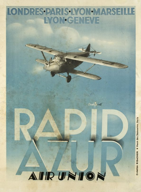 Rapid Azur, Air Union - Vintage Posters - Galerie 123 - The place to find vintage art