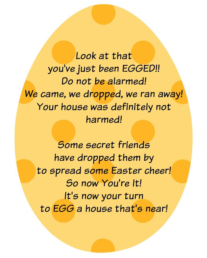 18 best youve beenweve been images on pinterest holiday fun easter game to play with your neighbors negle Images