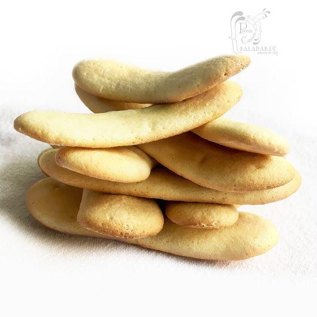 Paladares {Sabores de nati }: Bizcochos de soletilla o lenguas de gato entre crema de ricotta al estilo mascarpone. Savoiardi, lady fingers, melindros