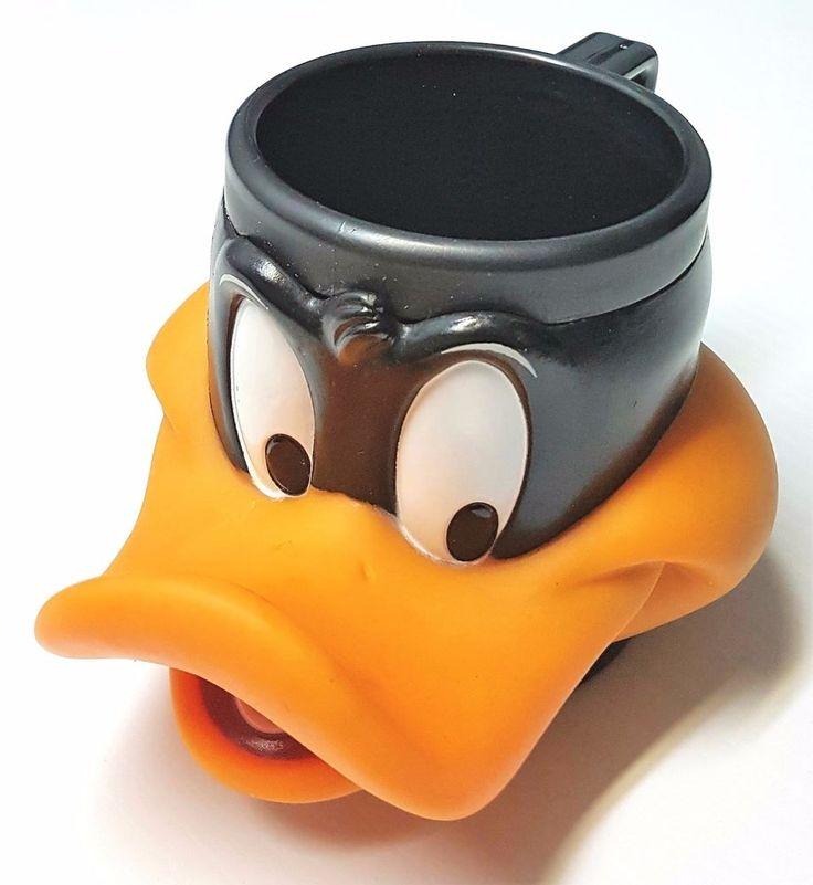 1992 Black and Orange Promotional Looney Tunes Daffy Duck Plastic Mug Cup   | eBay