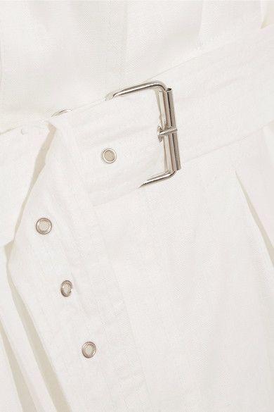Isabel Marant - Ivo Linen Trench Coat - White - FR