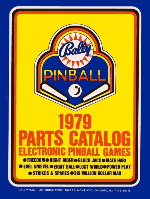 Bally 1979-1 Parts Catalog - BLY1979-1 - Marco Pinball Parts