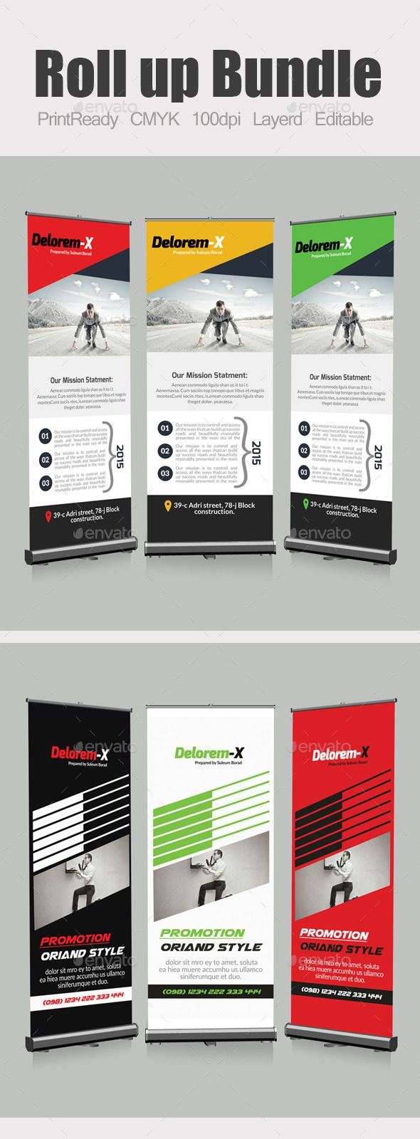 Exhibition Stand Activity Ideas : Roll up business banners template bundle activities