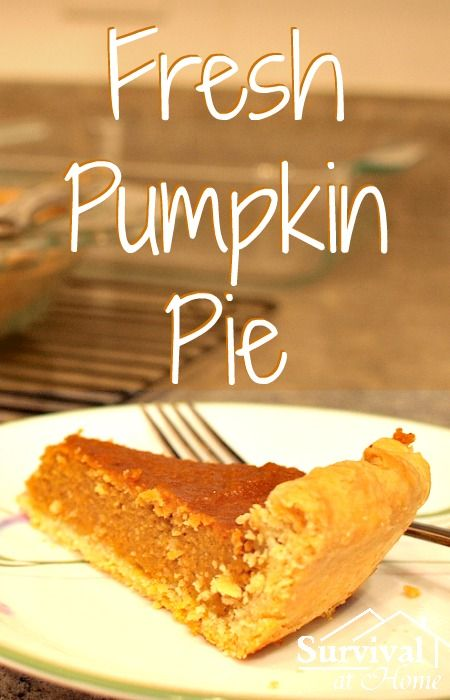 Fresh pumpkin pie is a staple in most American homes during the holidays. Warm, cold, with whipped cream or without - this pie recipe is sure to be a hit!