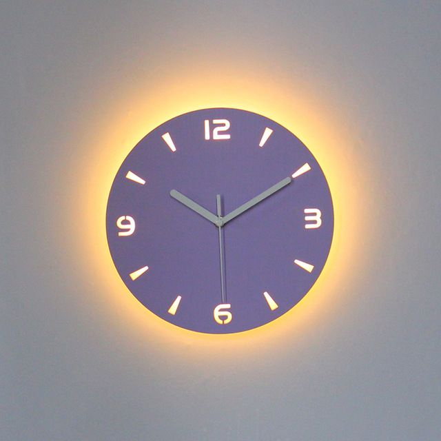 Led Wall Clock Modern Design Clocks With Backlight Watch Silent For Home Kitchen Office Cafe Decoration For Wall Re Led Wall Clock Wall Clock Modern Wall Clock